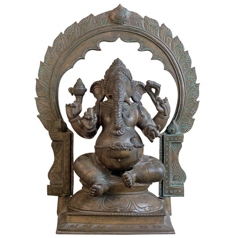 Ganesha with Arch,[product_collection],Rani Arts & Teak, - Artisera