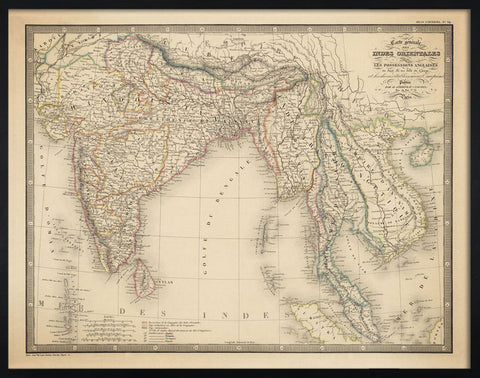 Indes Orientales, 1854,The Calcutta Restoration Co., - Artisera