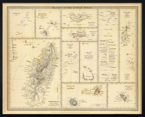 Islands in the Indian Ocean, 1844,The Calcutta Restoration Co., - Artisera