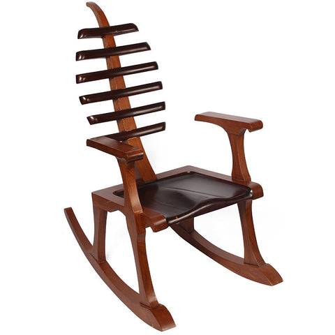 Rocking Chair with Leaf Back,[product_collection],The Great Eastern Home, - Artisera