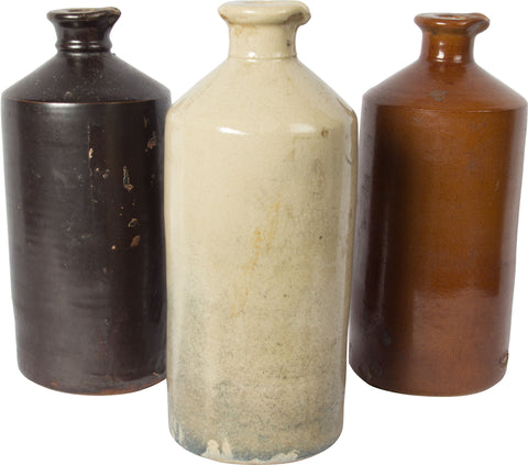 Stoneware Ink Bottles (Set of 3),[product_collection],Balaji's Antiques and Collectibles, - Artisera