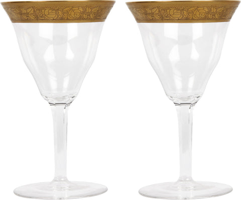 Moser Sherry Glasses (Pair),Balaji's Antiques and Collectibles, - Artisera