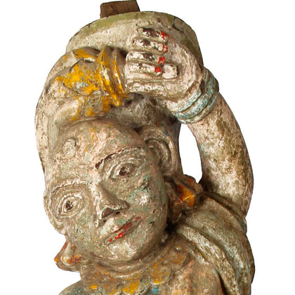 Lady Bracket Figure, Gujarat,[product_collection],Balaji's Antiques and Collectibles, - Artisera