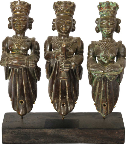 3 Musicians Brackets, Gujarat,Balaji's Antiques and Collectibles, - Artisera
