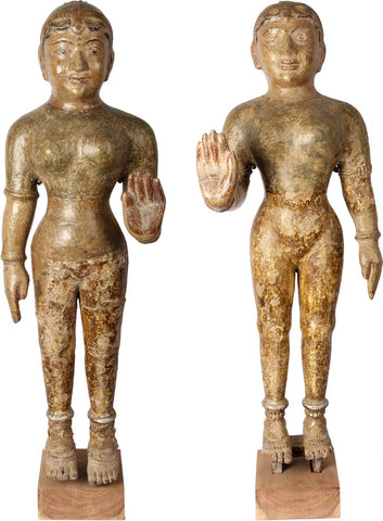 Female Pola Figures (Pair),[product_collection],Balaji's Antiques and Collectibles, - Artisera
