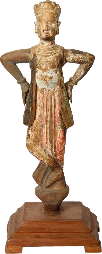 Wooden Figure, Gujarat,[product_collection],Balaji's Antiques and Collectibles, - Artisera