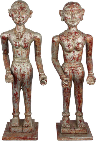Maharashtrian Puppets (Pair),Balaji's Antiques and Collectibles, - Artisera