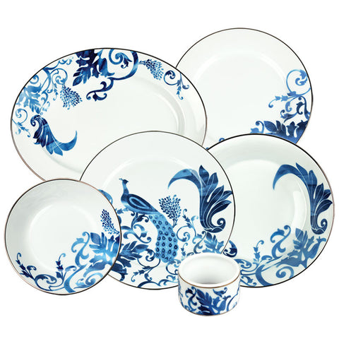 Indira 27 Piece Dinner Set,[product_collection],Nishita Fine Dinnerware, - Artisera