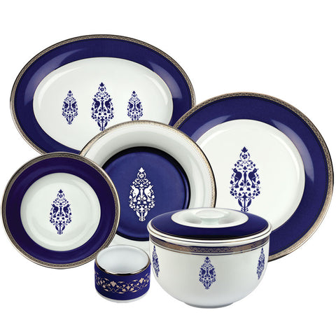 Jodhpur Evenings Dinner Set,Nishita Fine Dinnerware, - Artisera