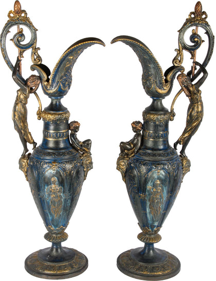 European Jugs With Cherubs (Pair),[product_collection],Essajees, - Artisera
