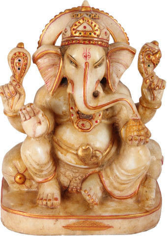 Seated Ganesha,[product_collection],Essajees, - Artisera