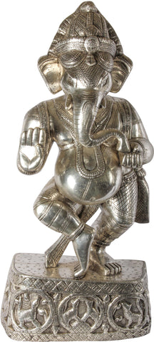 Silver Clad Standing Ganesha,[product_collection],Essajees, - Artisera