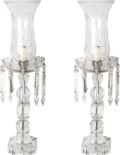 French Crystal Lamps (Pair),[product_collection],Essajees, - Artisera