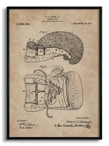Boxing Glove Patent Document,[product_collection],The Calcutta Restoration Co., - Artisera