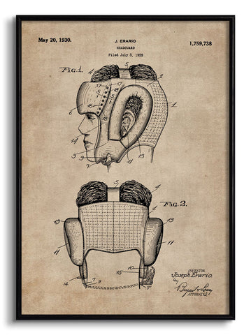 Headguard for Boxers Patent Document,[product_collection],The Calcutta Restoration Co., - Artisera