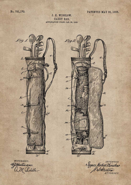 Caddy Bag Patent Document,[product_collection],The Calcutta Restoration Co., - Artisera