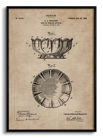 Dish Patent Document,[product_collection],The Calcutta Restoration Co., - Artisera