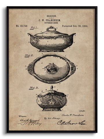 Covered Dish Patent Document,[product_collection],The Calcutta Restoration Co., - Artisera