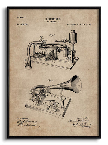 Gramophone Patent Document,[product_collection],The Calcutta Restoration Co., - Artisera