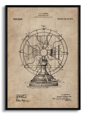 Oscillating Fan Patent Document,[product_collection],The Calcutta Restoration Co., - Artisera