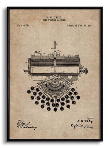 Type Writing Machine Patent Document,The Calcutta Restoration Co., - Artisera