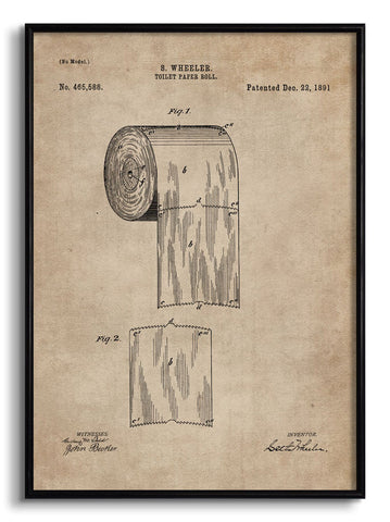 Toilet Paper Roll Patent Document,The Calcutta Restoration Co., - Artisera