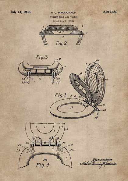 Toilet Seat & Cover Patent Document,The Calcutta Restoration Co., - Artisera