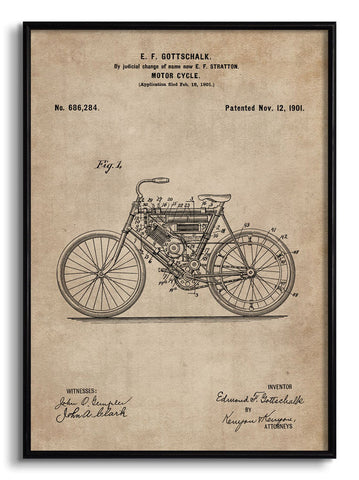 Motor Cycle Patent Document,[product_collection],The Calcutta Restoration Co., - Artisera