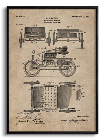 Motor Road Vehicle Patent Document,[product_collection],The Calcutta Restoration Co., - Artisera
