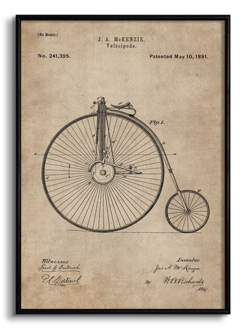 Velocipede Patent Document,[product_collection],The Calcutta Restoration Co., - Artisera