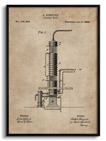 Alcohol Still Patent Document,[product_collection],The Calcutta Restoration Co., - Artisera
