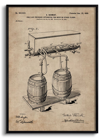 Cold Air Pressure Apparatus for Beer Patent Document,[product_collection],The Calcutta Restoration Co., - Artisera