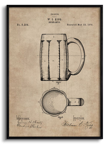 Beer Mug Patent Document,[product_collection],The Calcutta Restoration Co., - Artisera