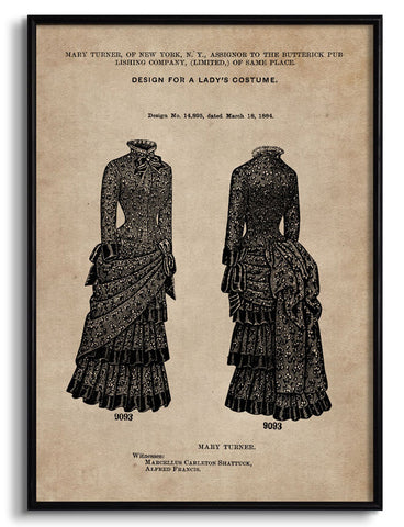 Lady's Costume Patent Document,[product_collection],The Calcutta Restoration Co., - Artisera