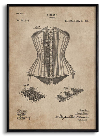 Corset Patent Document,[product_collection],The Calcutta Restoration Co., - Artisera