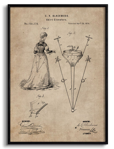 Skirt Elevator Patent Document,[product_collection],The Calcutta Restoration Co., - Artisera