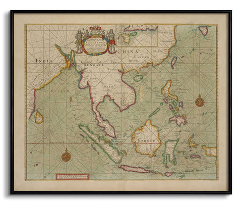 A Chart of the East Indies and China,The Calcutta Restoration Co., - Artisera