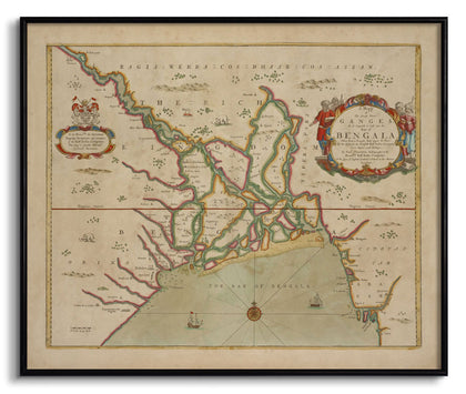 The Great River Ganges into the Bay of Bangala,The Calcutta Restoration Co., - Artisera