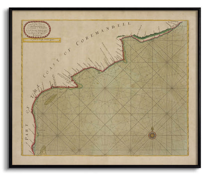 Part of the Coast of Coremandell - I,[product_collection],The Calcutta Restoration Co., - Artisera