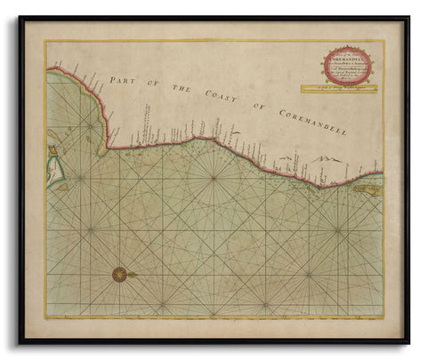 Part of the Coast of Coremandell - II,[product_collection],The Calcutta Restoration Co., - Artisera