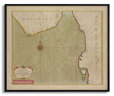 The Coast of Guzaratt and India,[product_collection],The Calcutta Restoration Co., - Artisera