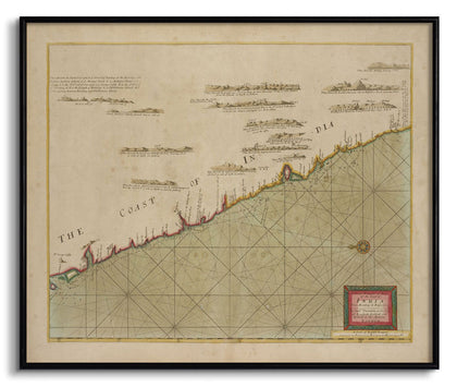 The Coast of India from Bombay to Bassalore,[product_collection],The Calcutta Restoration Co., - Artisera