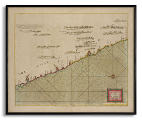 The Coast of India from Bombay to Bassalore,The Calcutta Restoration Co., - Artisera