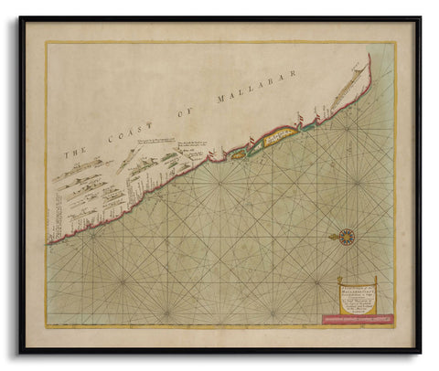 The Coast of Mallabar,[product_collection],The Calcutta Restoration Co., - Artisera