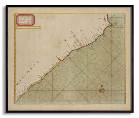 The Coast of Orixa & Galconda,[product_collection],The Calcutta Restoration Co., - Artisera