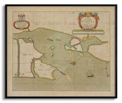 The Island of Bombay and Sallset,[product_collection],The Calcutta Restoration Co., - Artisera