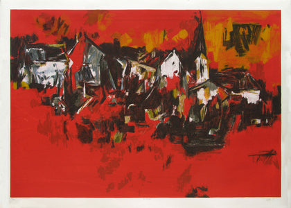 The Village,Archer Art Gallery,S.H. Raza - Artisera