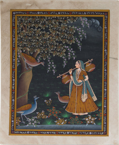 Lady With Veena - Ragni Series,La Boutique, - Artisera