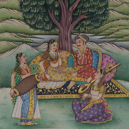 Couple Under A Tree With Musicians,[product_collection],La Boutique, - Artisera