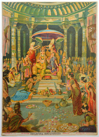Ram Rajyabhishek,[product_collection],Archer Art Gallery,Raja Ravi Varma - Artisera